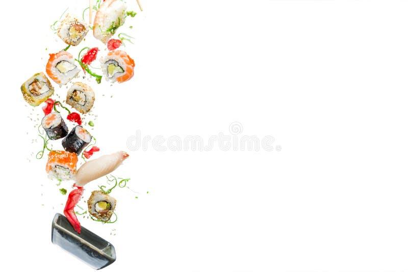 Naadloos patroon met sushi royalty-vrije stock afbeelding