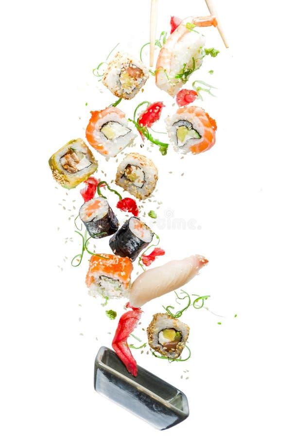 Naadloos patroon met sushi royalty-vrije stock foto