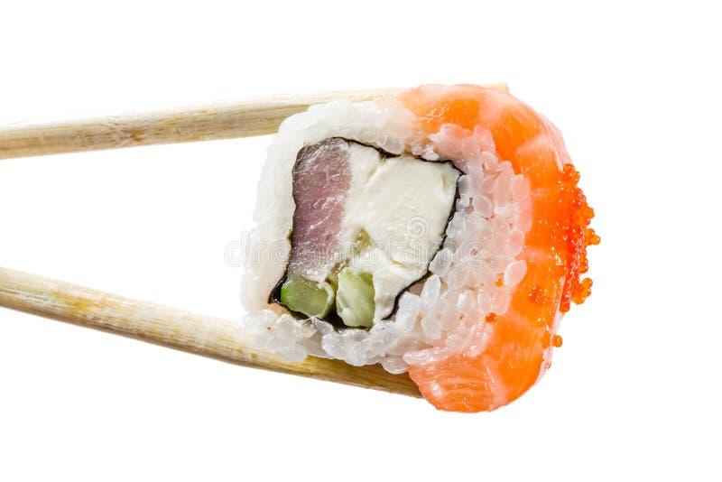 Naadloos patroon met sushi stock afbeelding