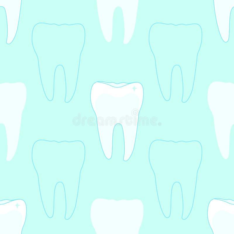 Naadloos patroon met tanden stock illustratie