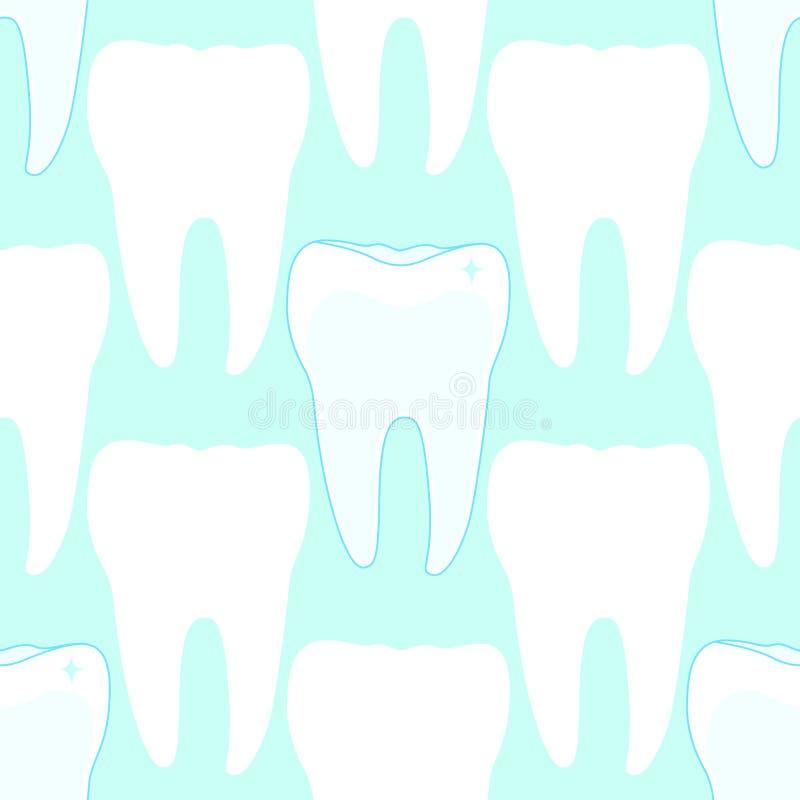 Naadloos patroon met tanden royalty-vrije illustratie