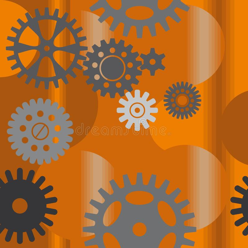 Naadloos patroon met toestellen vector illustratie