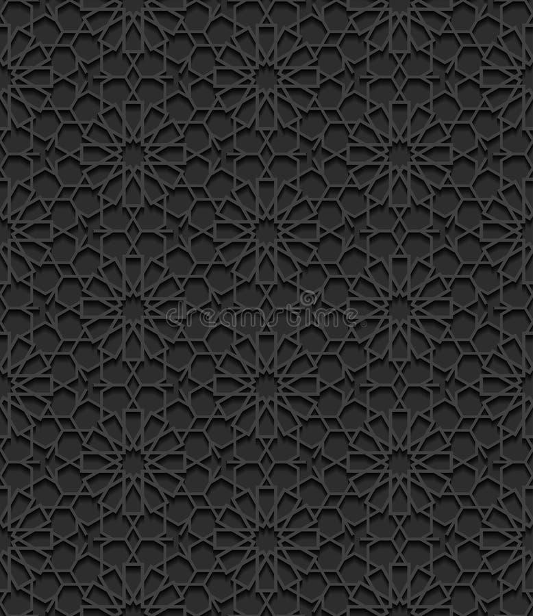 Naadloos patroon met traditioneel ornament vector illustratie
