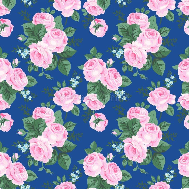 Naadloos patroon met uitstekende bloemen. vector illustratie