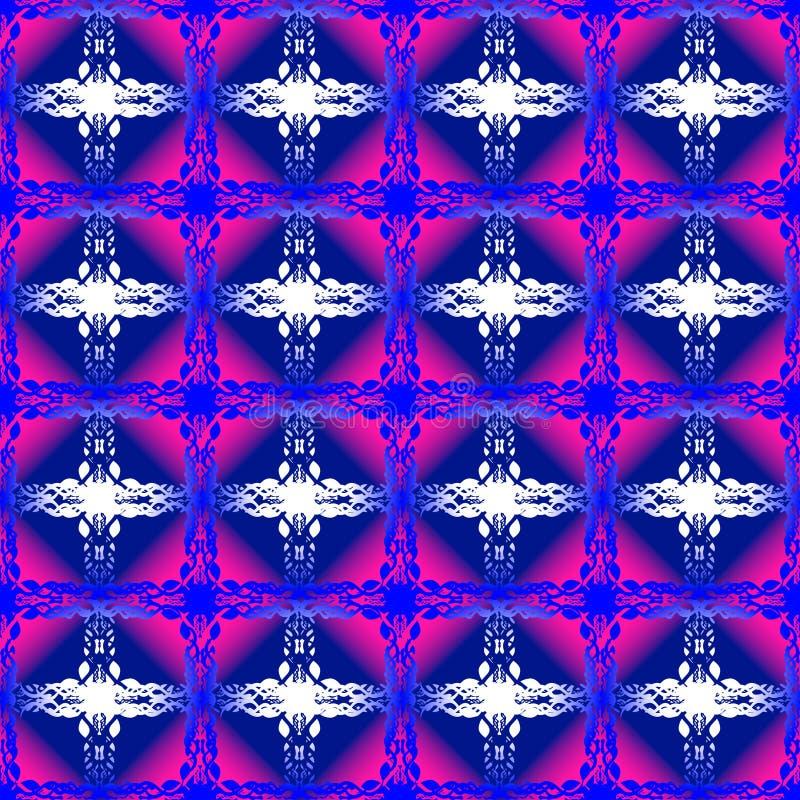 Naadloos patroon met uitstekende elementen stock afbeeldingen