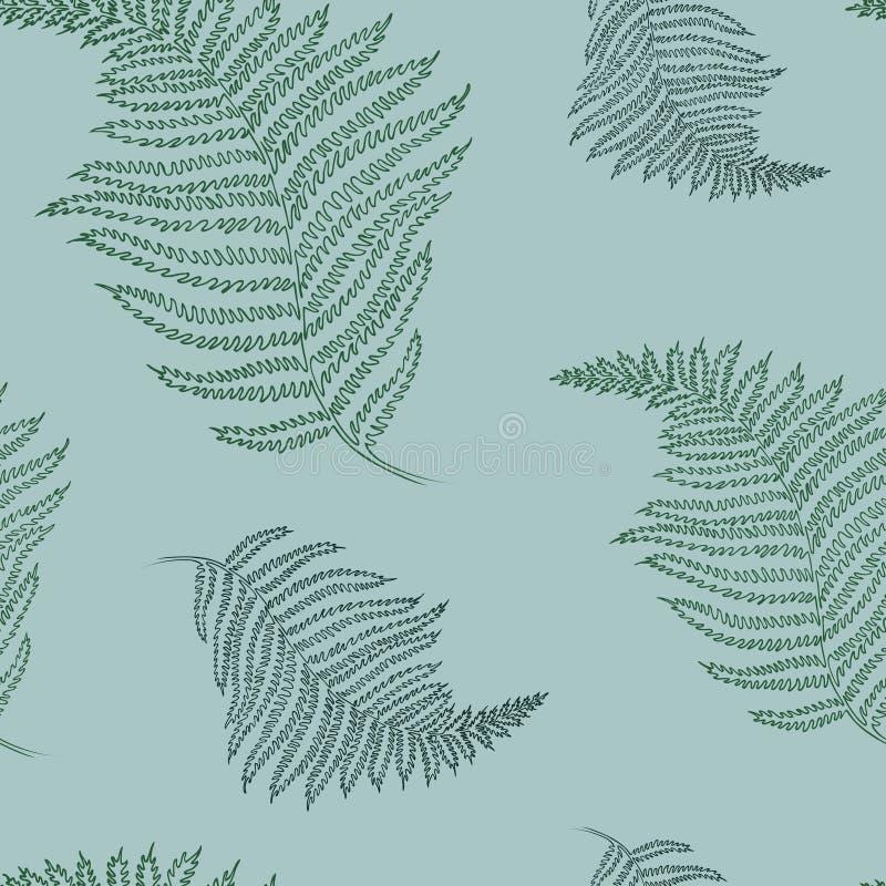 Naadloos patroon met varen Helder Hawaiiaans ontwerp met tropische installaties vector illustratie