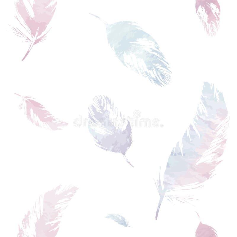 Naadloos Patroon met Veren vector illustratie
