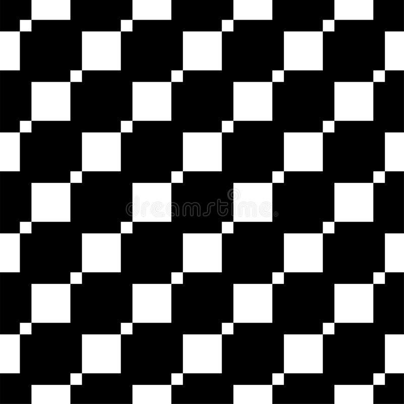 Naadloos patroon met vierkanten Geometrisch eenvoudig beeld stock illustratie