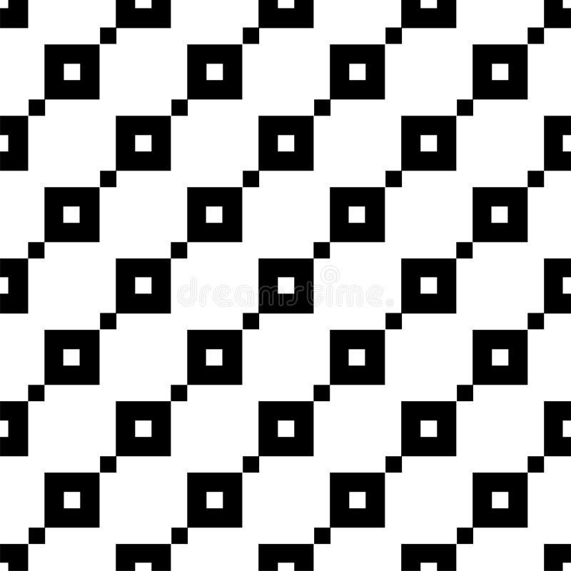 Naadloos patroon met vierkanten Geometrisch eenvoudig beeld vector illustratie