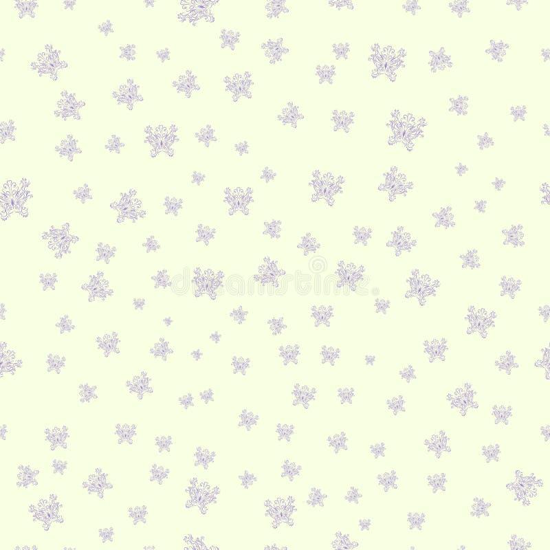 Naadloos patroon met violette vlinders stock fotografie