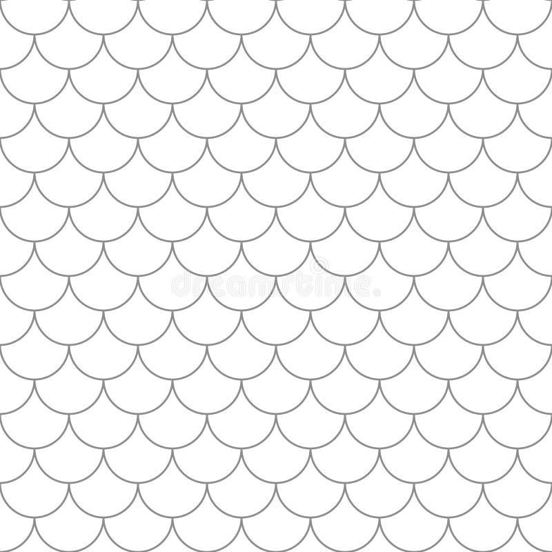 Naadloos patroon met vissenschalen royalty-vrije illustratie