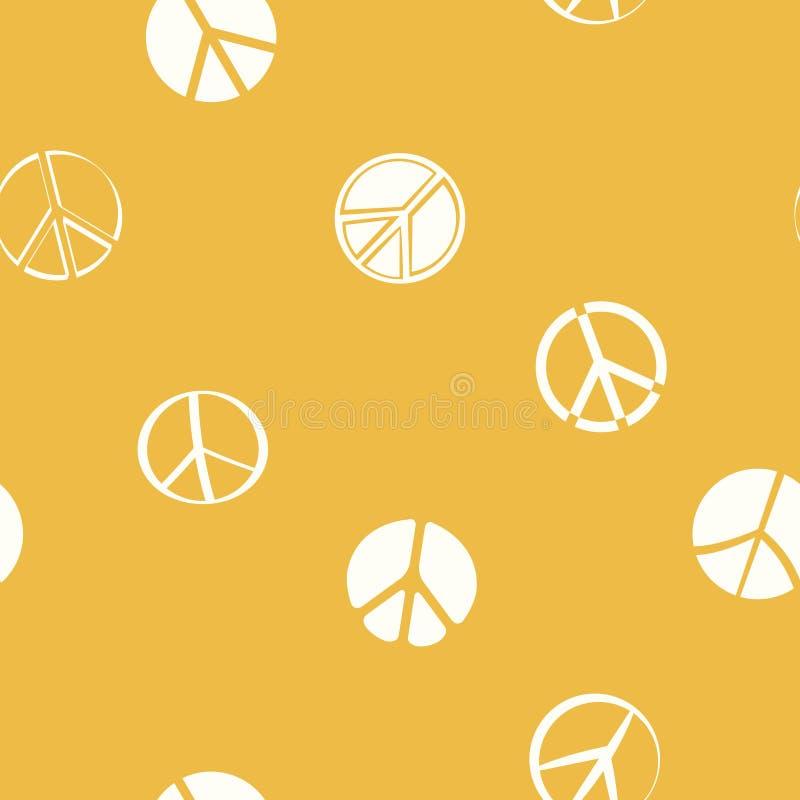 Naadloos patroon met Vredessymbolen stock illustratie