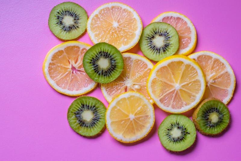 Naadloos patroon met vruchten Tropische abstracte achtergrond stock afbeeldingen