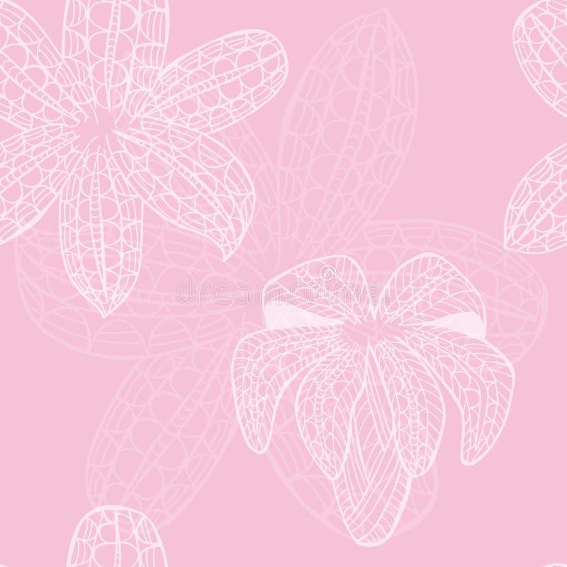 Naadloos Patroon met Witte Decoratieve Pasen-Lelie royalty-vrije illustratie