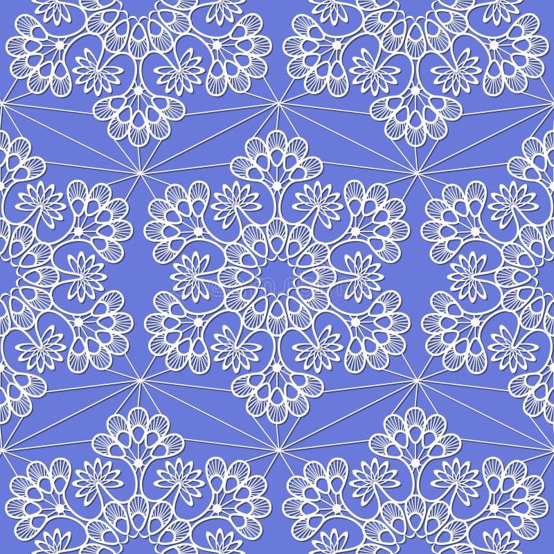 Naadloos patroon met witte sneeuwvlokken vector illustratie