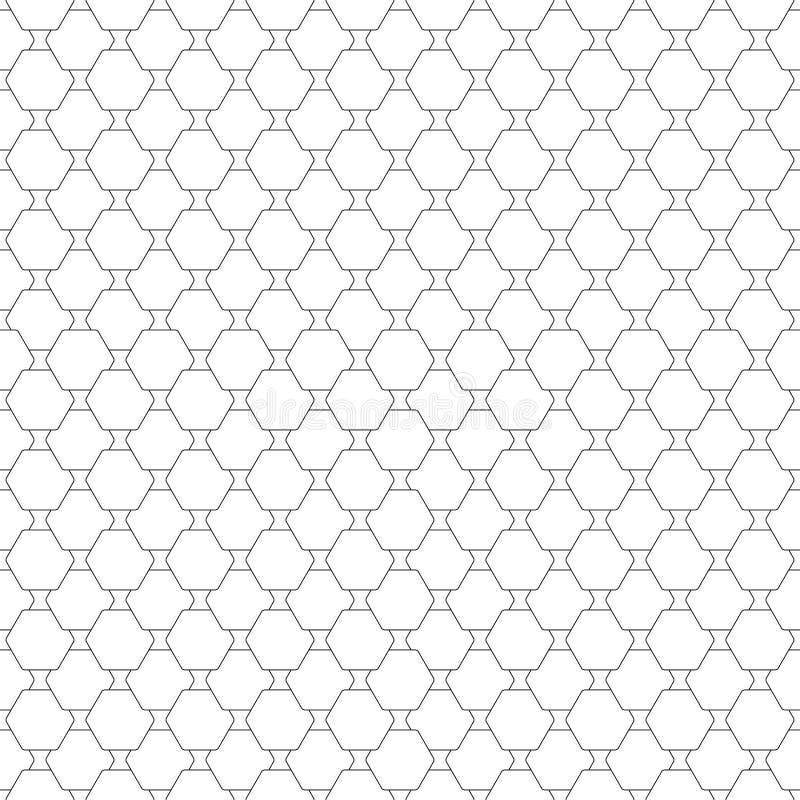Naadloos patroon met zeshoeken Modern herhalen royalty-vrije illustratie