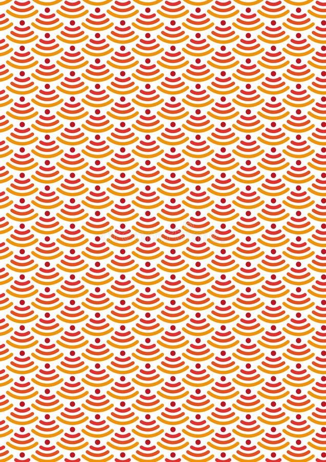Naadloos patroon moderne modieuze textuur Draadloos Netwerkpictogram Symbool wi-FI De draadloze streek van het Netwerkpictogram W vector illustratie
