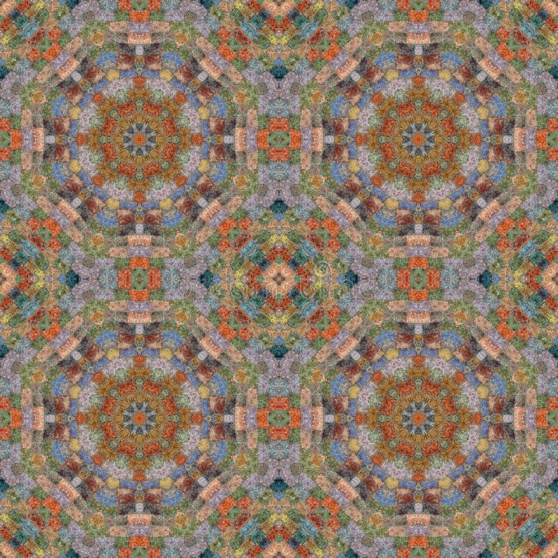 Naadloos patroon, mozaïek van stof stock afbeelding