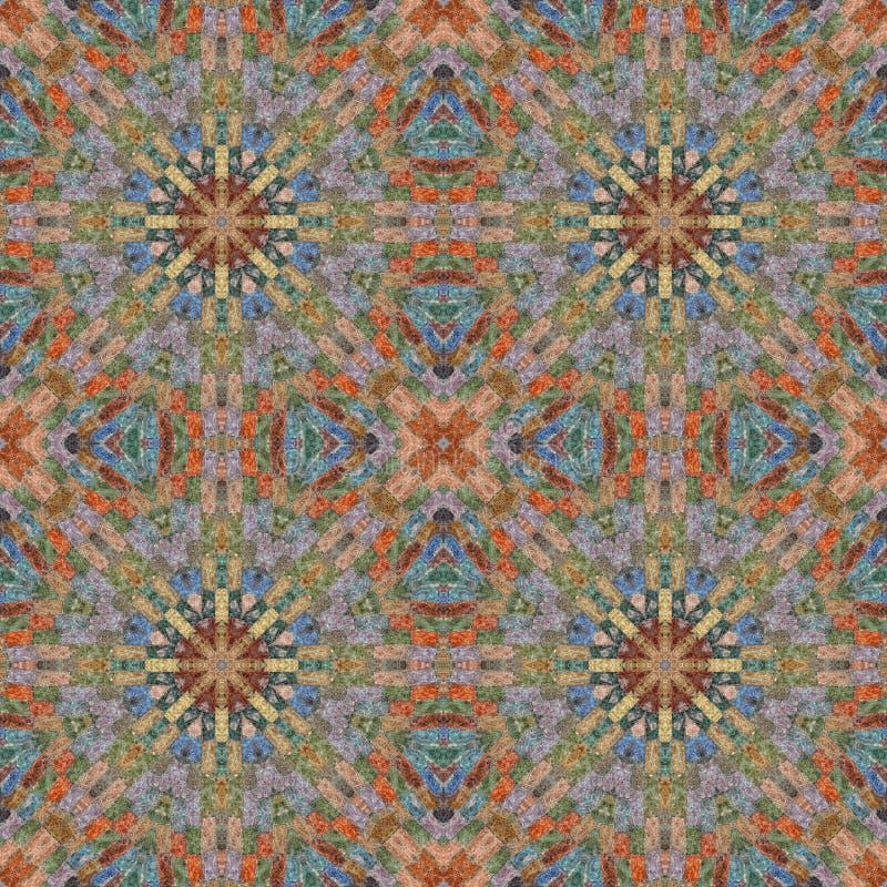 Naadloos patroon, mozaïek van stof stock afbeeldingen