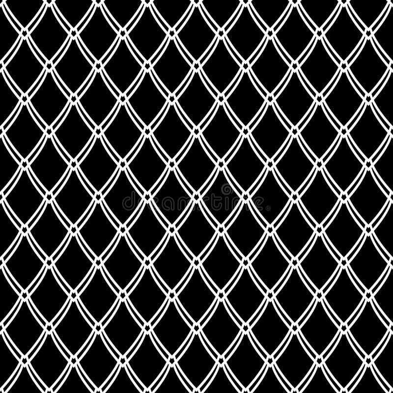 Naadloos patroon netto textuur Samenvatting gebreid netwerk vector illustratie