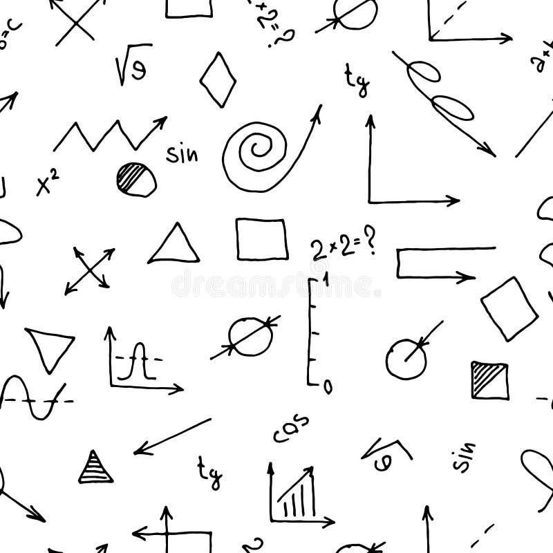 Naadloos patroon op het thema van wetenschap en onderwijs vector illustratie
