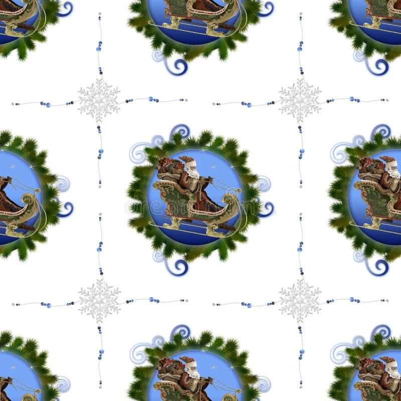 Naadloos patroon op Kerstmis thema-2 stock illustratie