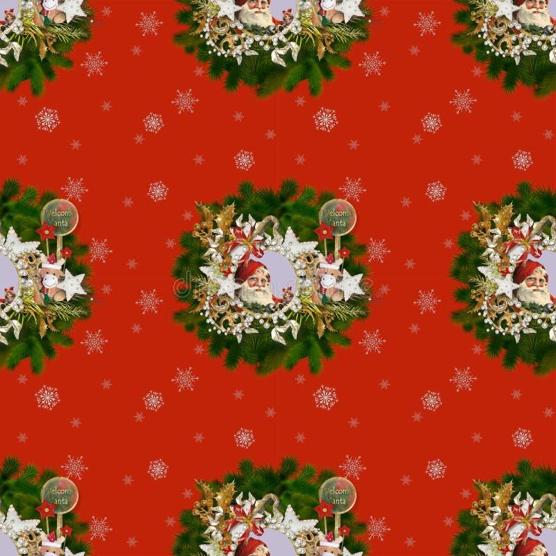 Naadloos patroon op Kerstmis thema-3 vector illustratie