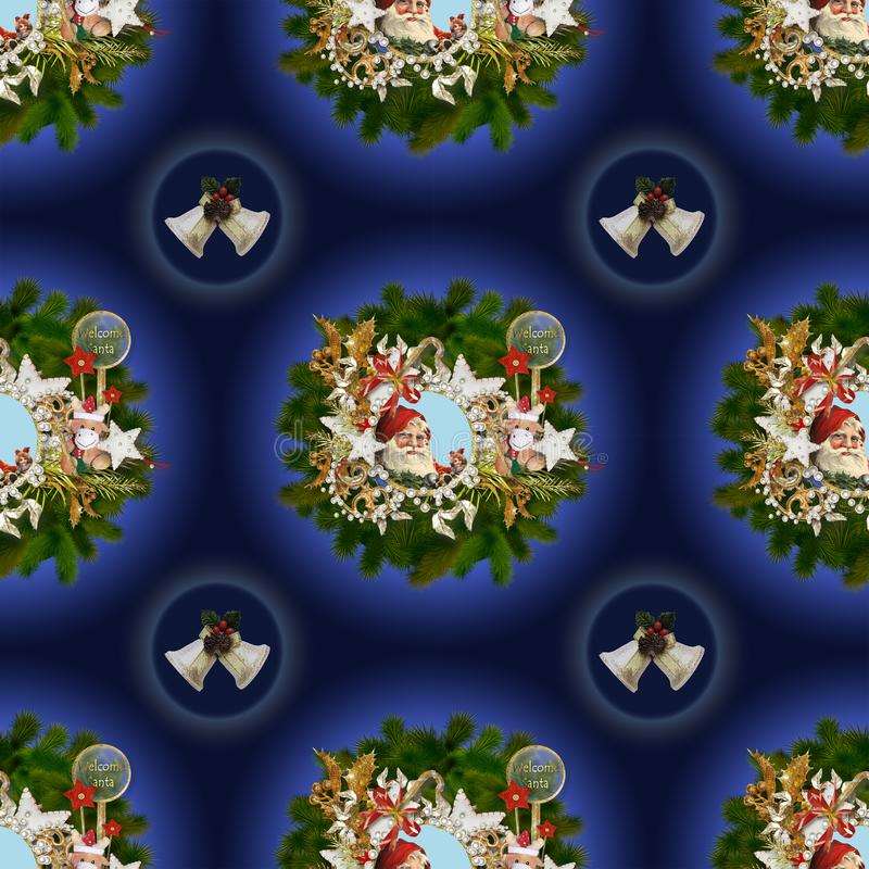 Naadloos patroon op Kerstmis thema-6 royalty-vrije illustratie