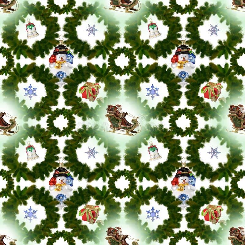Naadloos patroon op Kerstmis thema-7 stock illustratie