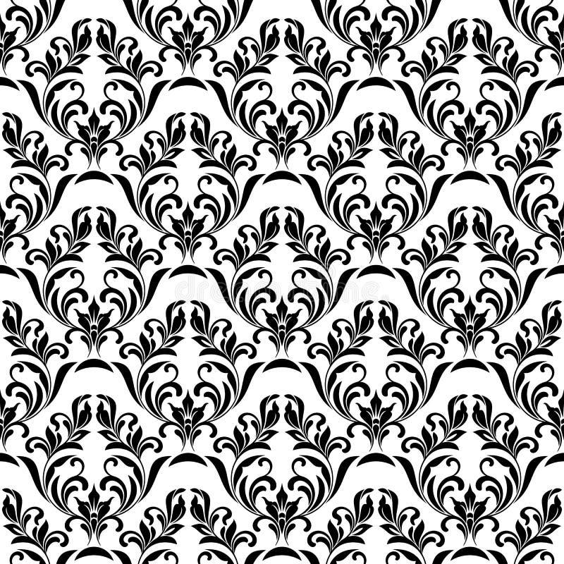 Naadloos patroon Overladen bloemenontwerp in koninklijke barokke stijl stock illustratie