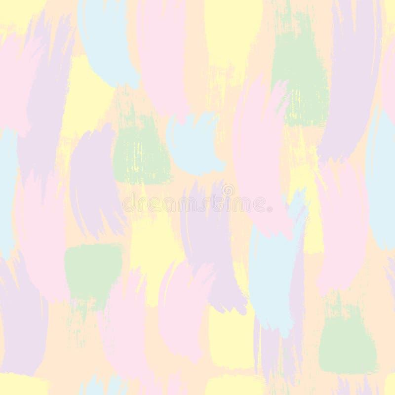 Naadloos patroon Pastelkleurkwaststreken vector illustratie
