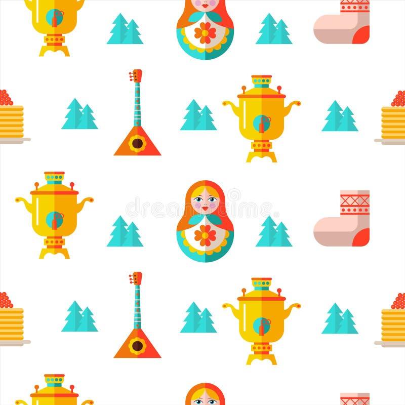Naadloos patroon Russische herinnering Vector illustratie vector illustratie