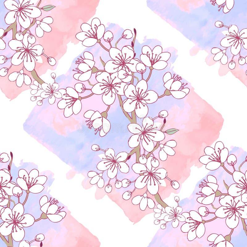 Naadloos Patroon Sakura stock illustratie