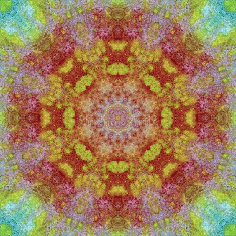 Naadloos patroon, schilderijen op een stof vector illustratie