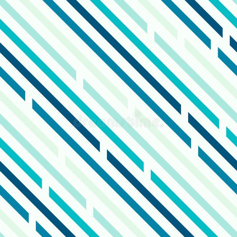 Naadloos patroon Schuine lijnen met ruimten, diagonalen Koude blu royalty-vrije illustratie