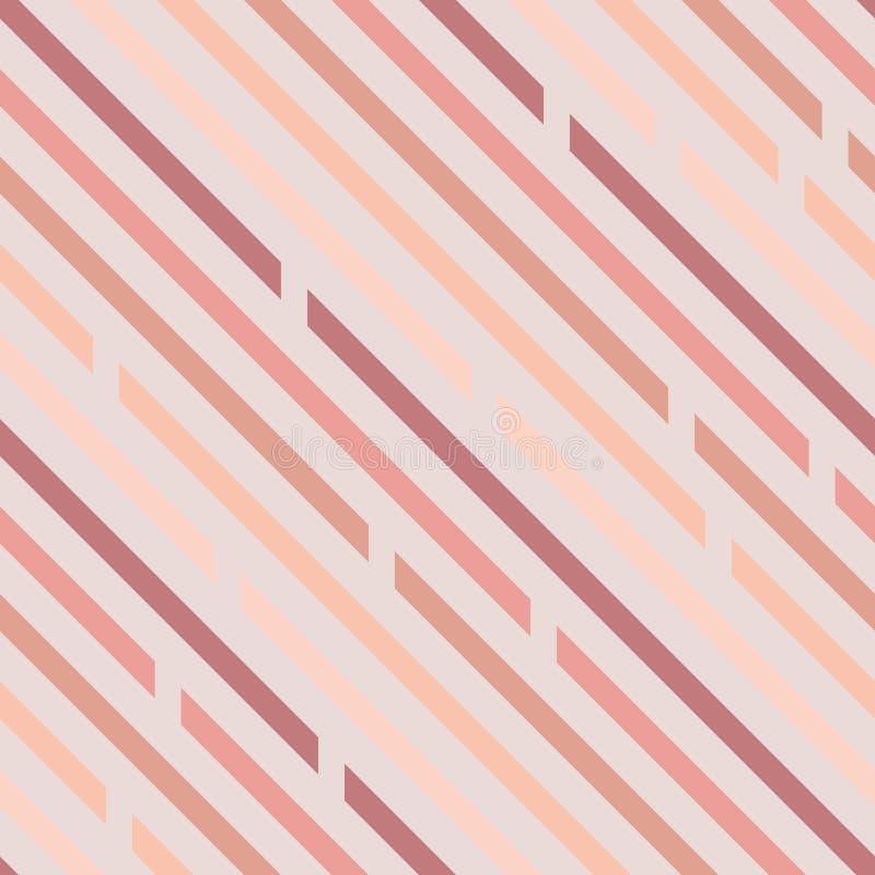 Naadloos patroon Schuine lijnen met ruimten, diagonalen Pastelkleur c stock illustratie