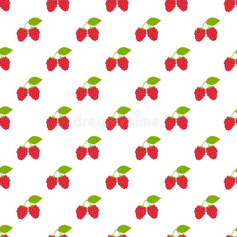 Naadloos patroon Takken met rode bessen op witte achtergrond vector illustratie