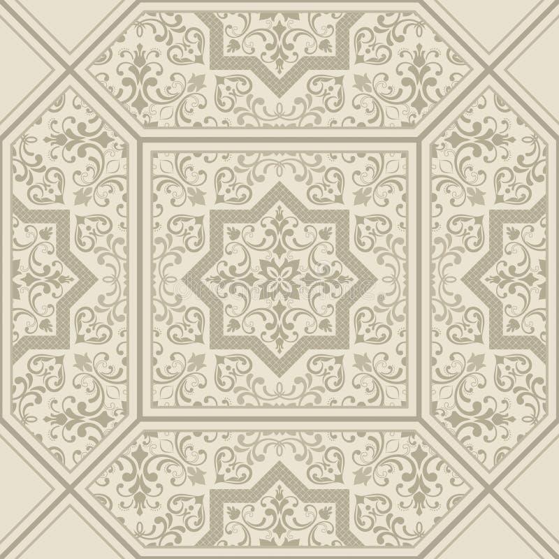 Naadloos patroon tegel Oriënteer vector klassiek patroon Naadloze abstracte achtergrond met het herhalen van elementen vector illustratie