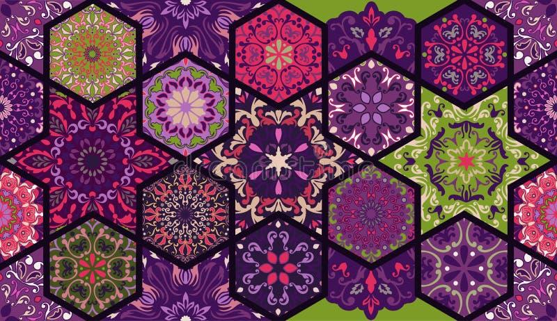 Naadloos patroon Uitstekende decoratieve elementen stock illustratie