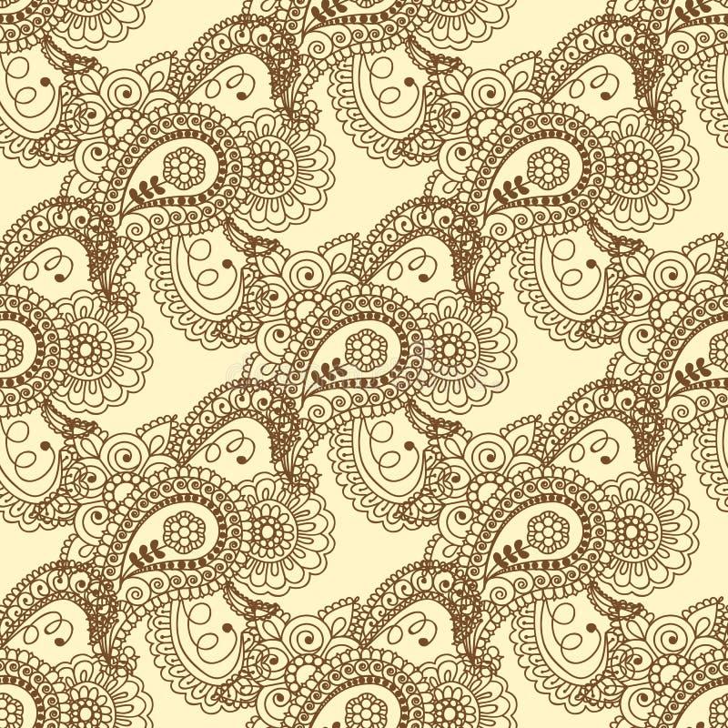 Naadloos patroon Uitstekende decoratieve elementen Hand Getrokken Achtergrond Islam, Arabisch, Indiër, ottomanemotieven Perfectio vector illustratie