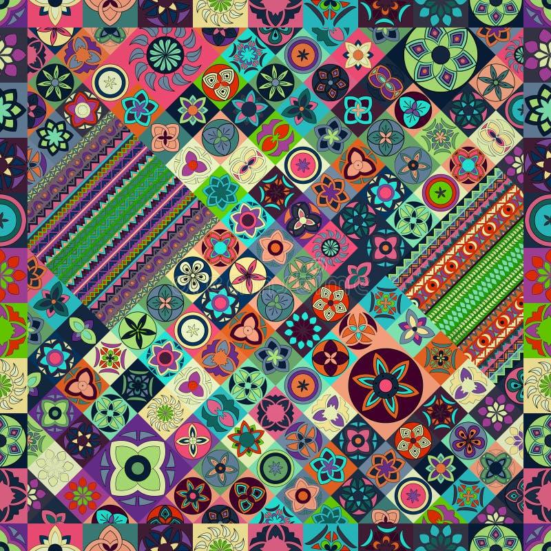 Naadloos patroon Uitstekende decoratieve elementen Hand Getrokken Achtergrond Islam, Arabisch, Indiër, ottomanemotieven royalty-vrije stock foto
