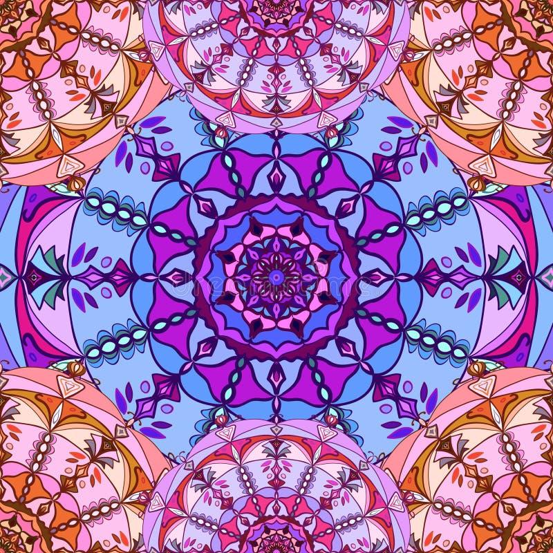 Naadloos patroon Uitstekende decoratieve elementen Hand Getrokken Achtergrond Islam, Arabisch, Indi?r, ottomanemotieven Perfectio stock illustratie