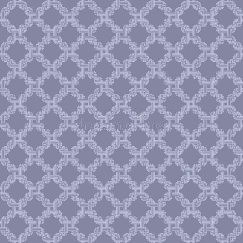 Naadloos patroon van abstracte lijn royalty-vrije illustratie