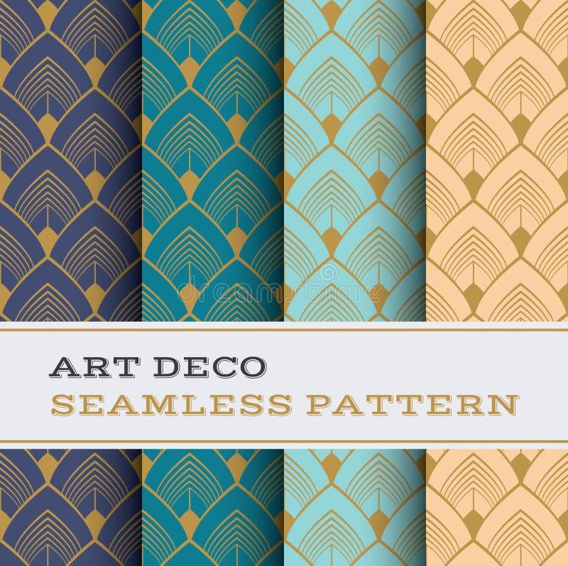 Naadloos patroon 32 van Art Deco vector illustratie