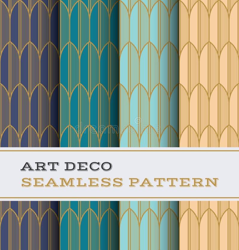 Naadloos patroon 34 van Art Deco vector illustratie
