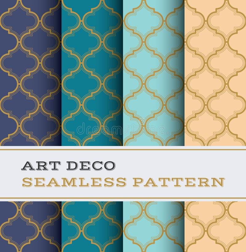 Naadloos patroon 31 van Art Deco royalty-vrije illustratie