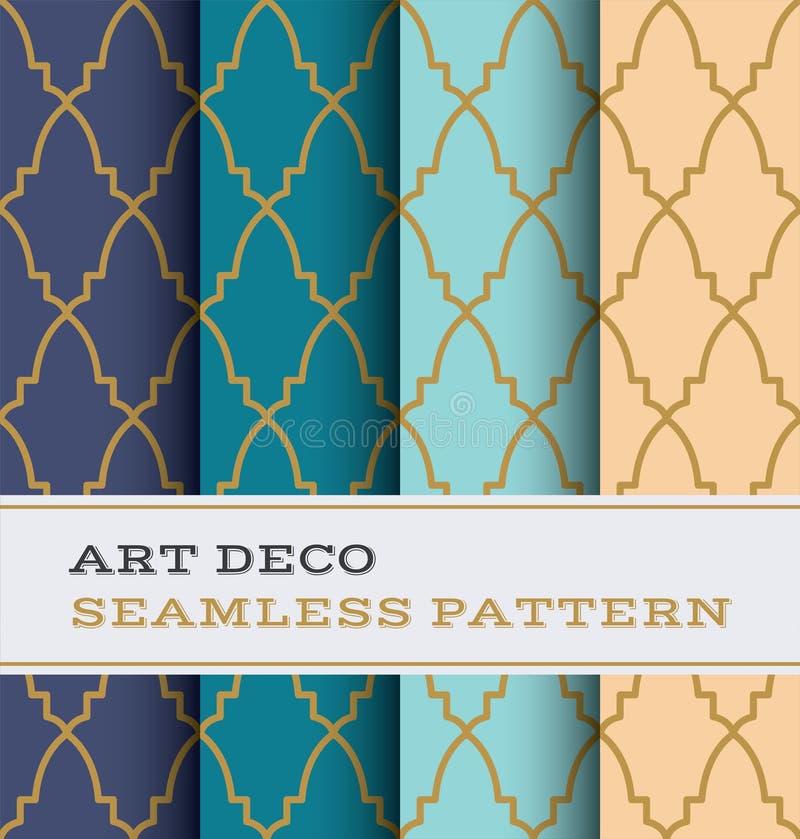 Naadloos patroon 37 van Art Deco stock illustratie