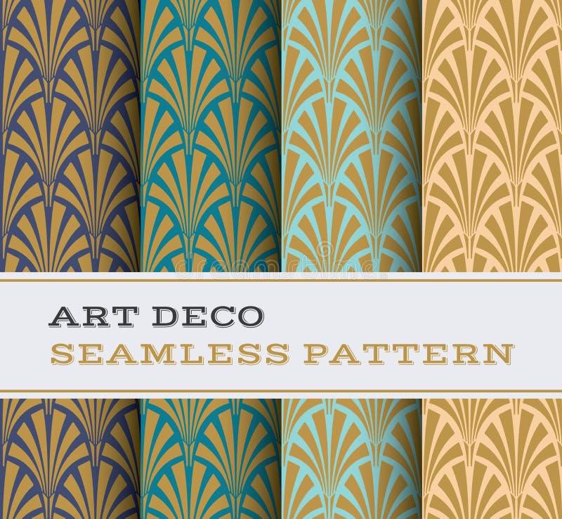 Naadloos patroon 02 van Art Deco royalty-vrije illustratie