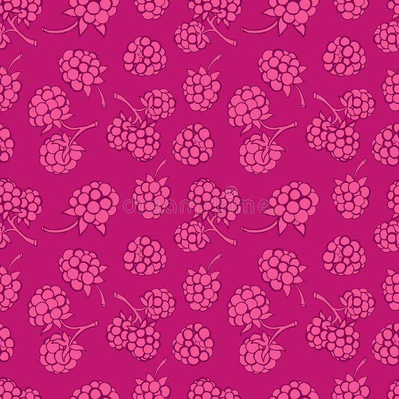 Naadloos patroon van bessen stock illustratie