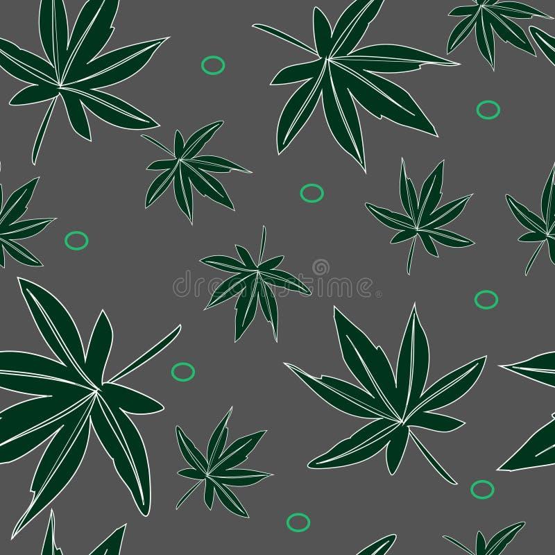 Naadloos patroon van bladeren stock foto's